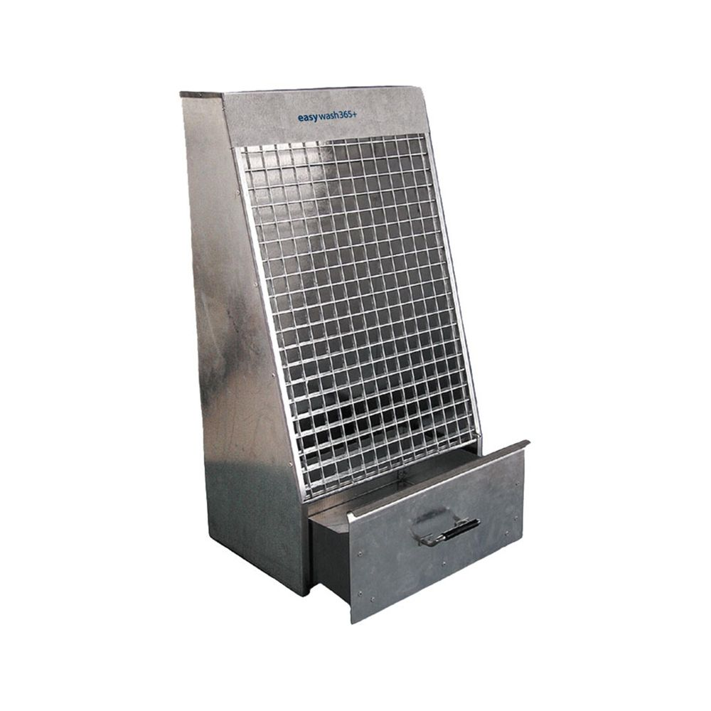 Mattenklopfer easywash365+, HxBxT 1000x500x400mm, Stahl verzinkt, inkl. Befestigungsmaterial – Bild 1