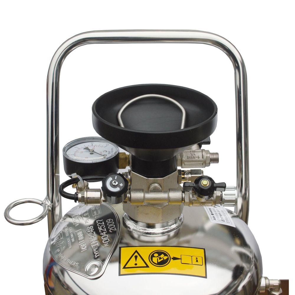 Schaumgerät mit Druckbehälter, wahlweise in Stahl lackiert oder Edelstahl – Bild 2