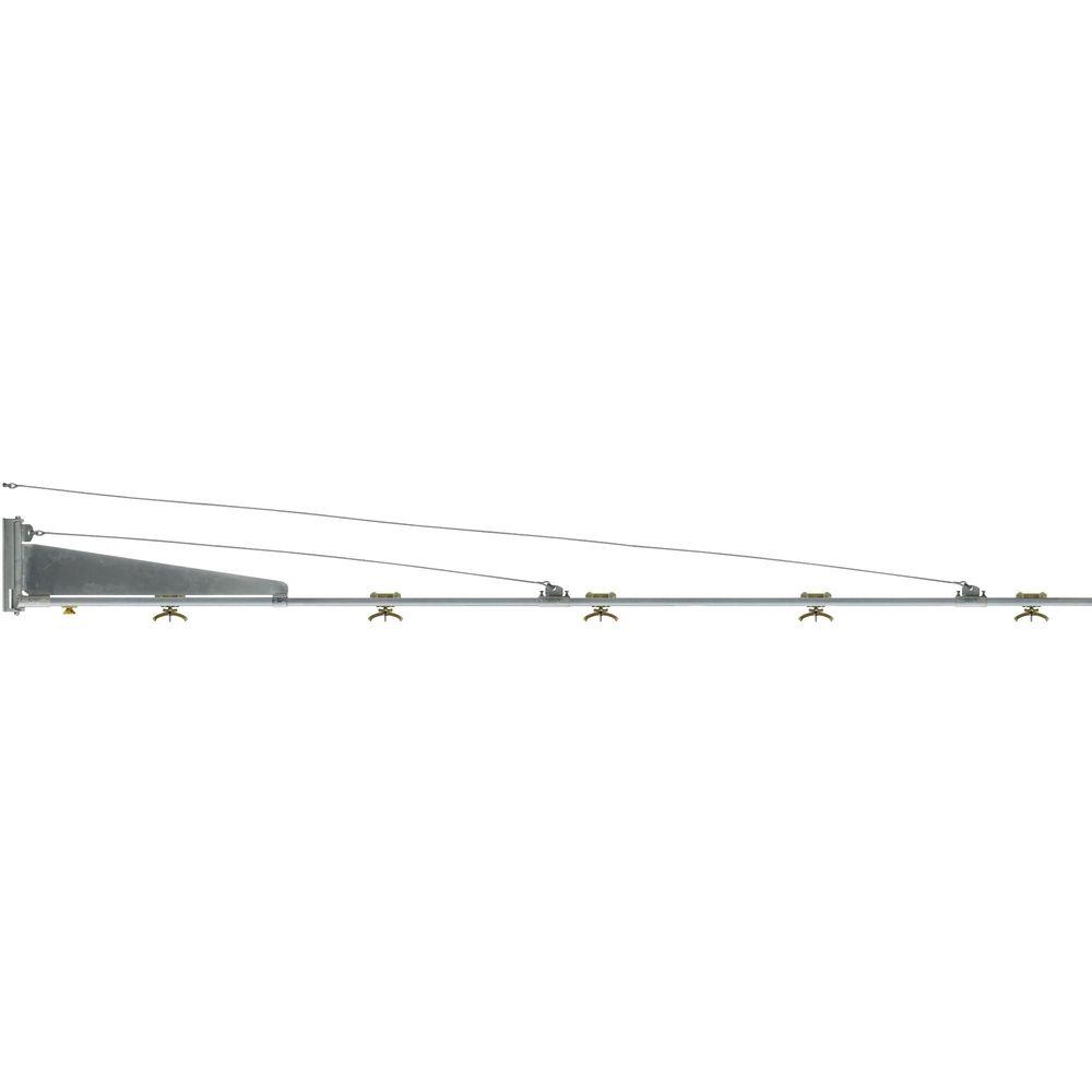 Hochdruckschwenkarm mit 5 Schlauchwagen für Schlauch 16-24mm, 5000mm, Stahl verzinkt, wartungsfrei, 38 Kg