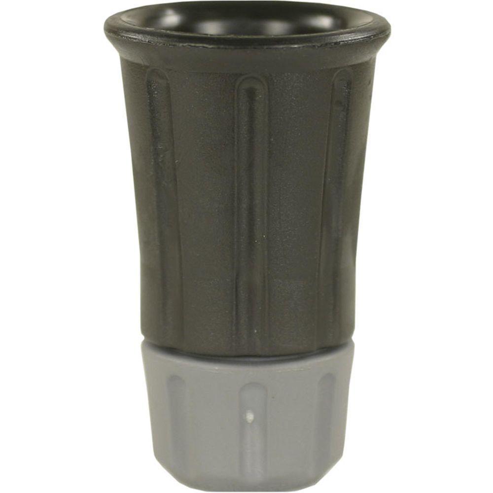 Düsenmuffe Kunststoff schwarz mit 1/4 Zoll Düsenaufnahme aus Stahl verzinkt