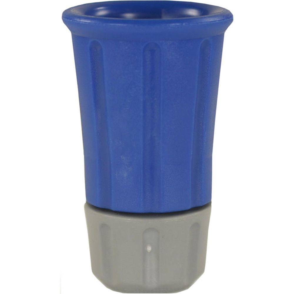 Düsenmuffe Kunststoff blau mit 1/4 Zoll Düsenaufnahme aus Edelstahl