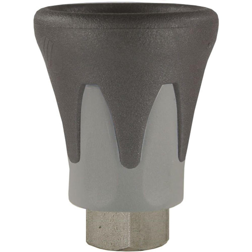 Düsenschutz ST-10, grau / schwarz, 1/8 Zoll Düsenaufnahme aus Edelstahl, max. 500 bar