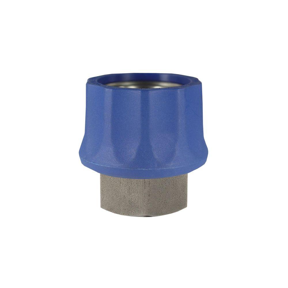"Schnellkupplung ST-45 blau, DN=10mm, E=3/8"" IG, max. 250bar, max. 150°C, Edelstahl"