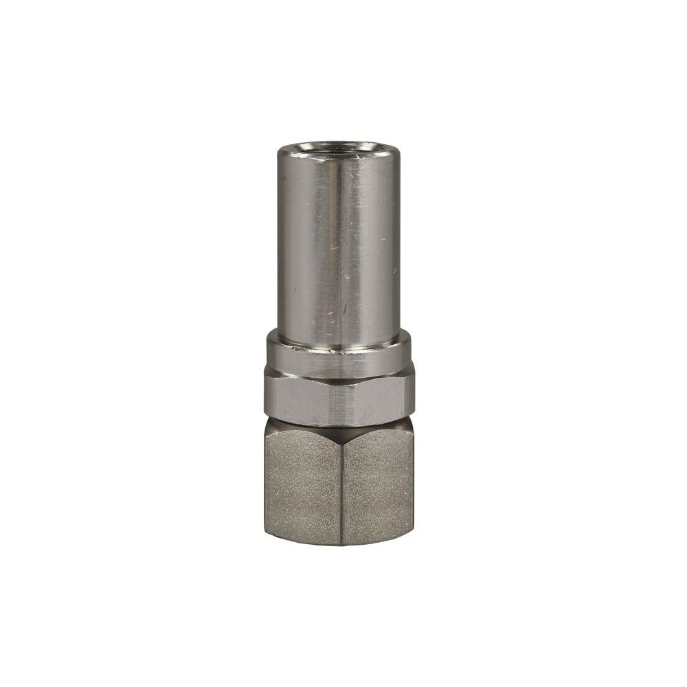 Drehgelenk ST 300, 3/8 Zoll IG - 1/4 Zoll AG, Edelstahl / Messing vernickelt, max. 275 bar, max. 90°C
