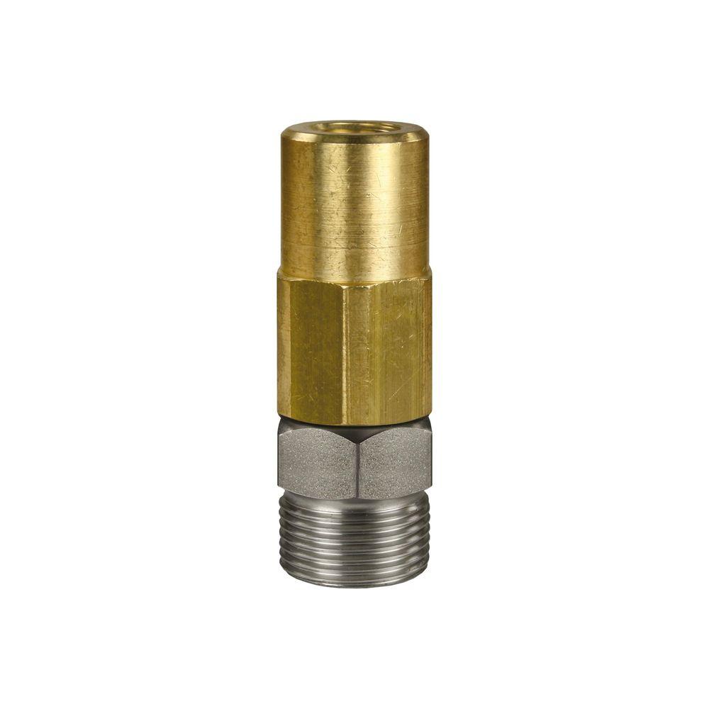 Drehgelenk ST 301, M22 AG - 1/4 Zoll IG, Edelstahl / Messing vernickelt, max. 350 bar, max. 90°C