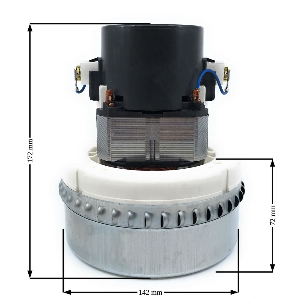 Domel Saugerturbine 1000 W, Typ 7568, 2-stufig, H=170mm, D=144mm, TH=72mm, 230V/50Hz – Bild 2