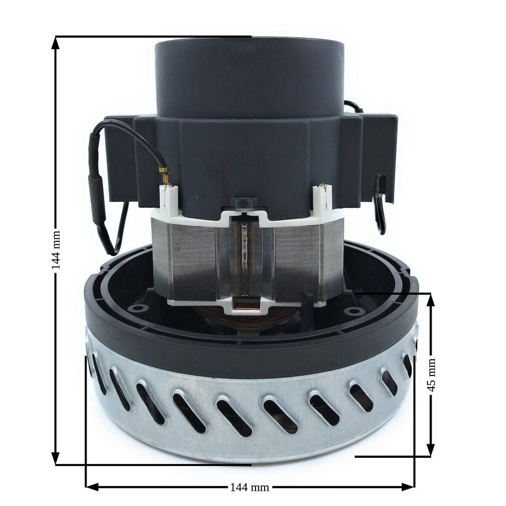 Universal Saugerturbine 1000 W, 1-stufig, H=144mm, D=144mm, TH=45mm, 230V/50Hz – Bild 2