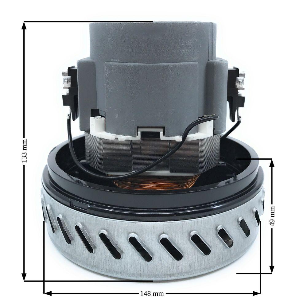 Ametek Saugerturbine 1100 W, Typ 061200219, 1-stufig, H=133mm, D=148mm, TH=49mm, 230V/50Hz – Bild 2