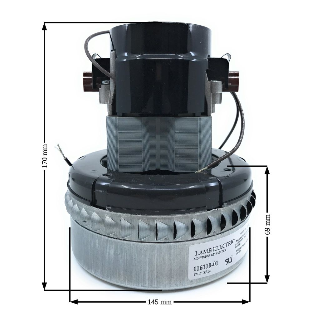 Lamb Electric Saugerturbine 1100 W, Typ 116 110-01, 2-stufig, H=170mm, D=145mm, TH=69mm, 230V/50Hz – Bild 2