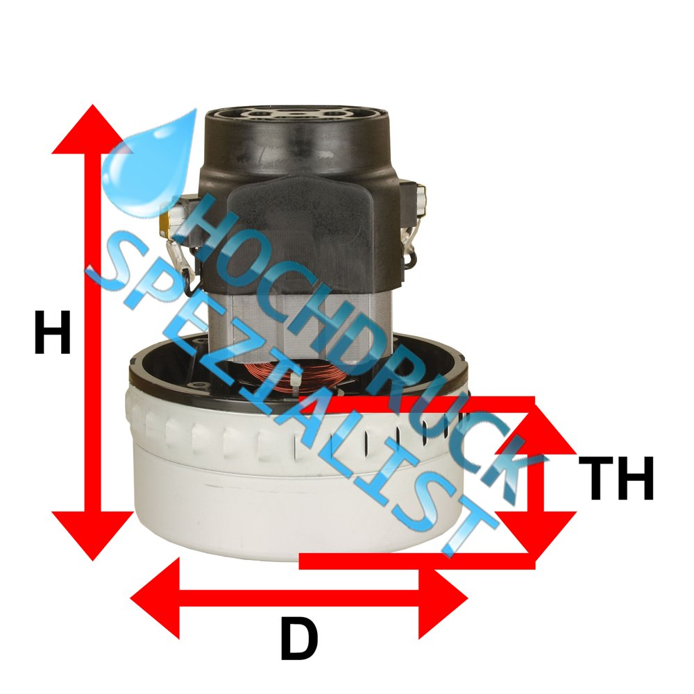 Domel Saugerturbine 1400 W, Typ 7788, 2-stufig, H=176mm, D=144mm, TH=72mm, 230V/50Hz – Bild 5