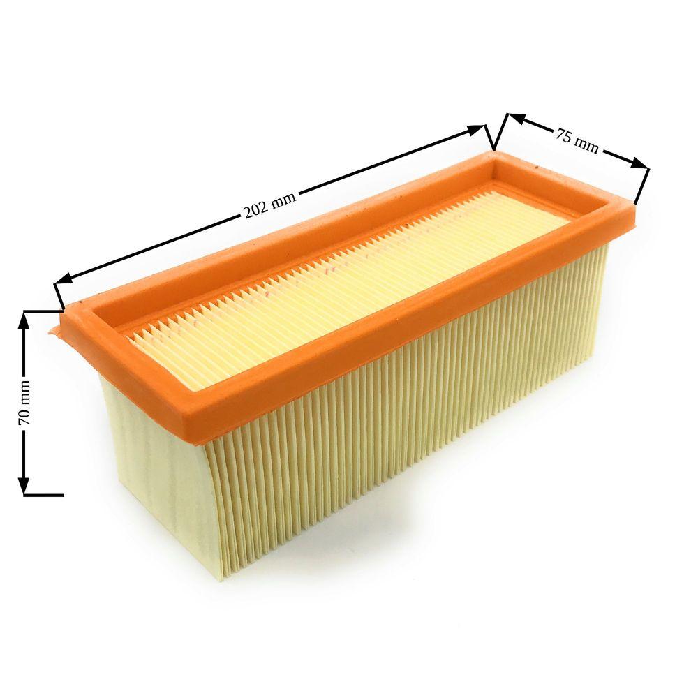 Faltenfilter Länge=202mm, Breite=75mm, Höhe=70mm, Papier, Staubklasse L – Bild 2