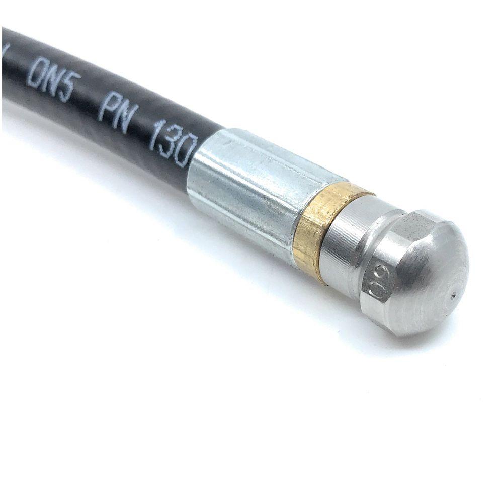 10m Rohrreinigungsleitung Polya, DN5, schwarz, Kärcher Bajonett auf Düse 3x0,8, ohne Frontbohrung, max. 20°C, max. 120bar – Bild 3