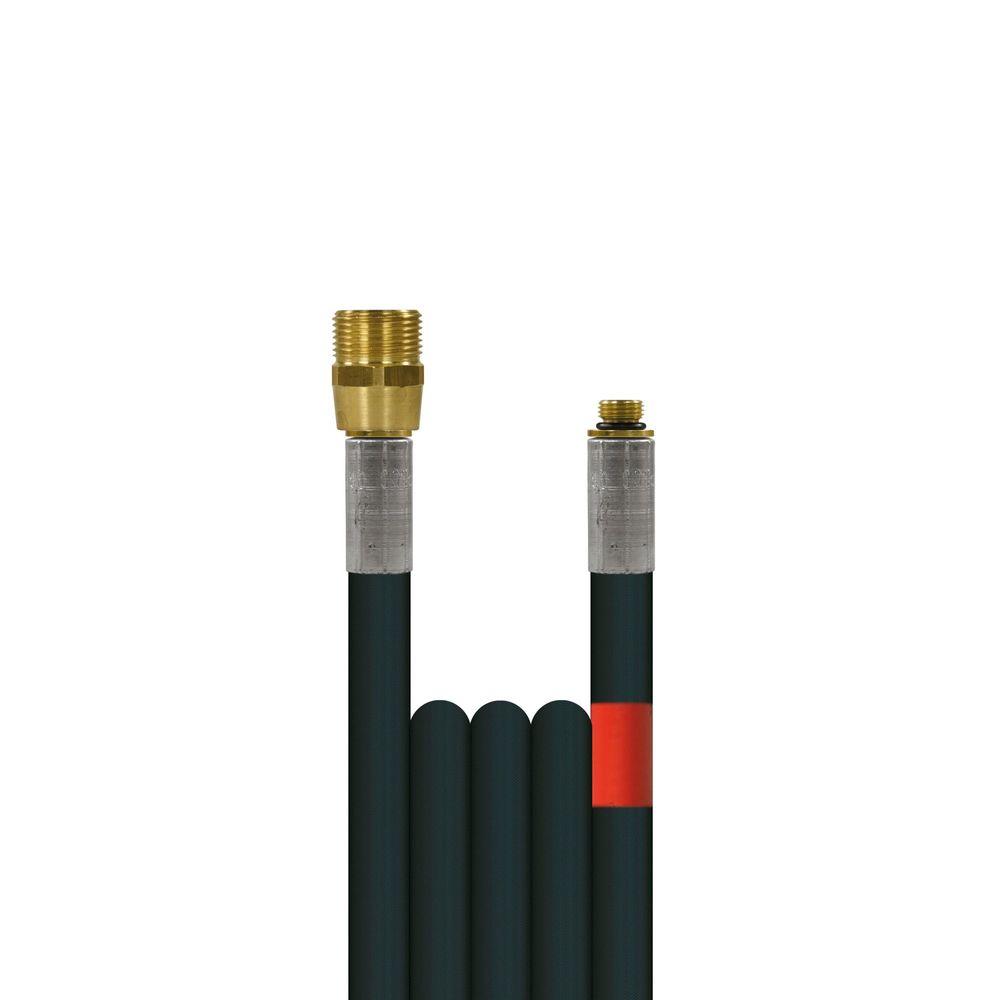 10m Rohrreinigungsleitung Polya, DN5, schwarz, M22 Aussengewinde auf 1/8 Zoll Aussengewinde, max. 20°C, max. 200bar