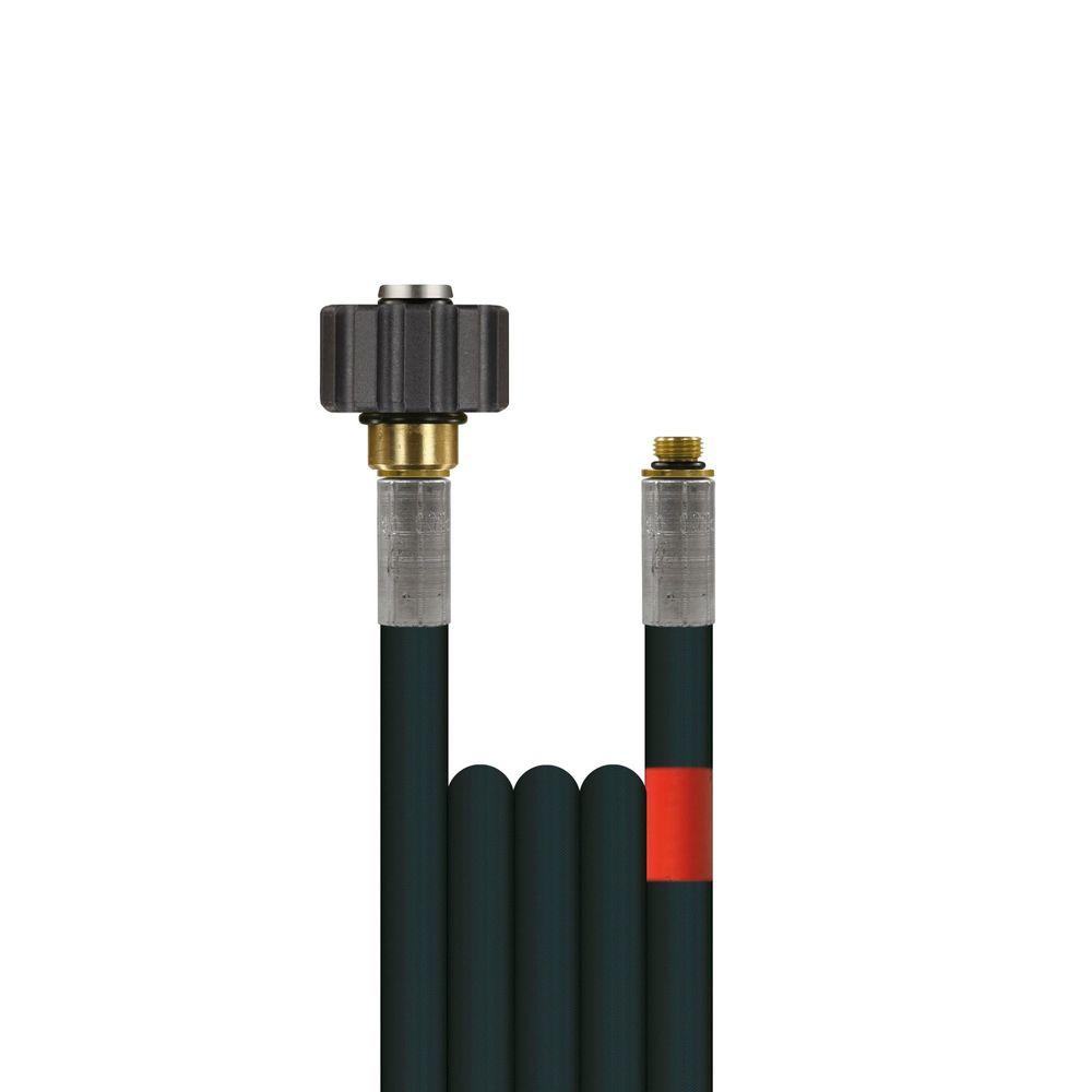 10m Rohrreinigungsleitung Flexy, DN6, schwarz, M22 Überwurf auf 1/8 Zoll Aussengewinde, max. 100°C, max. 300bar