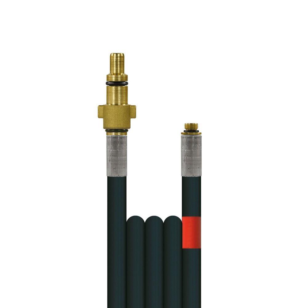 10m Rohrreinigungsleitung Flexy, DN6, schwarz, Stecknippel KEW-Hobby auf 1/8 Zoll Aussengewinde, max. 100°C, max. 300bar