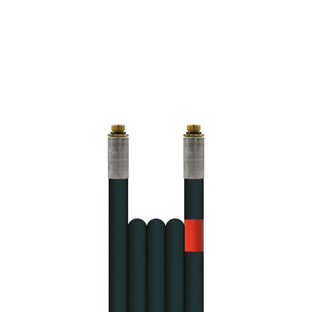 10m Rohrreinigungsleitung Flexy, DN6, schwarz, 1/8 Zoll Aussengewinde auf 1/8 Zoll Aussengewinde, max. 100°C, max. 300bar