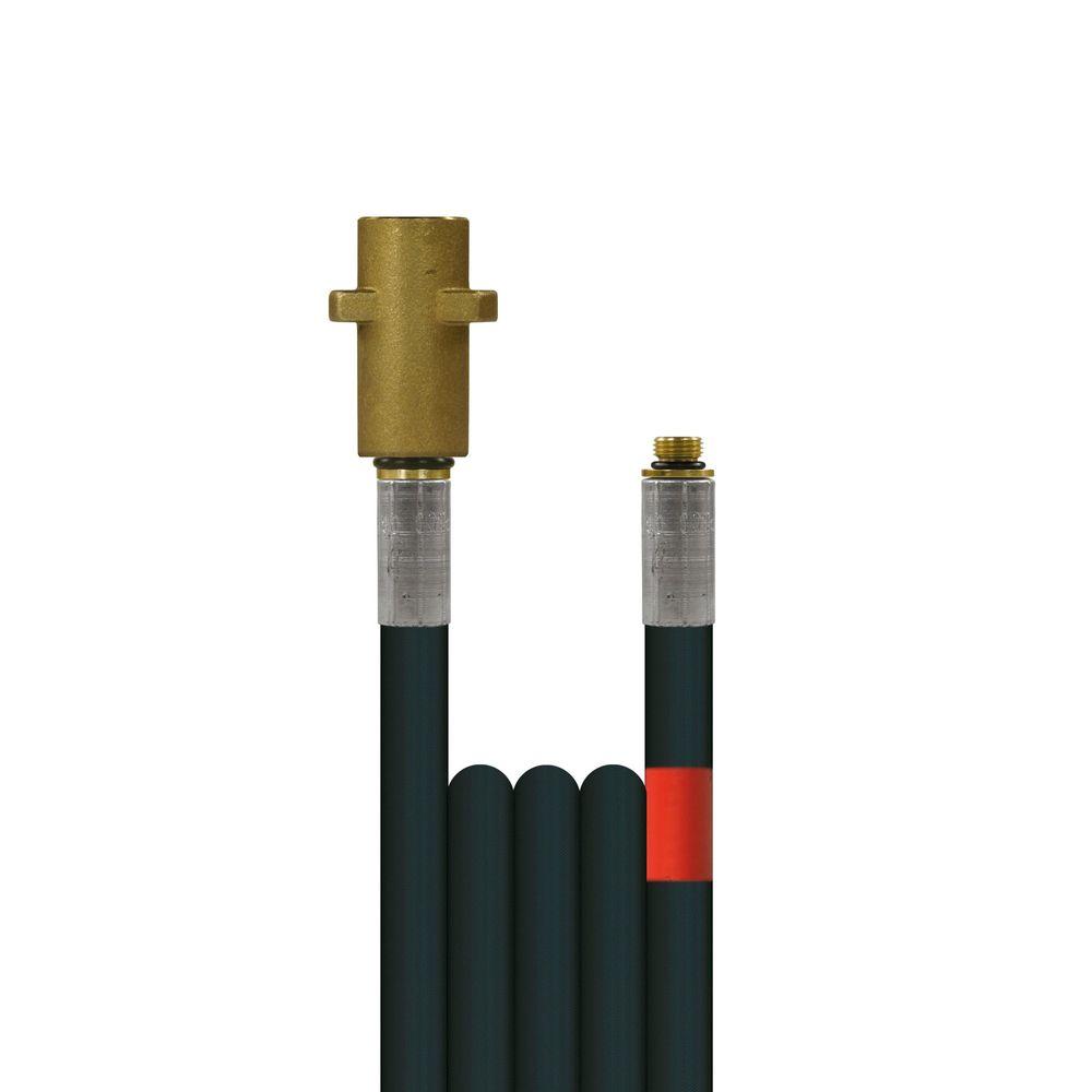 10m Rohrreinigungsleitung Flexy, DN6, schwarz, Kärcher Bajonett auf 1/8 Zoll Aussengewinde, max. 100°C, max. 300bar