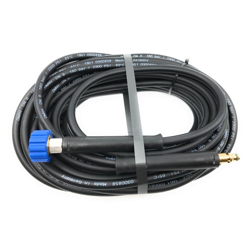 10m HD-Schlauch Polya, DN6, schwarz, 1/2 Zoll Überwurf auf Stecknippel 8mm, max. 60°C, max. 160bar – Bild 4