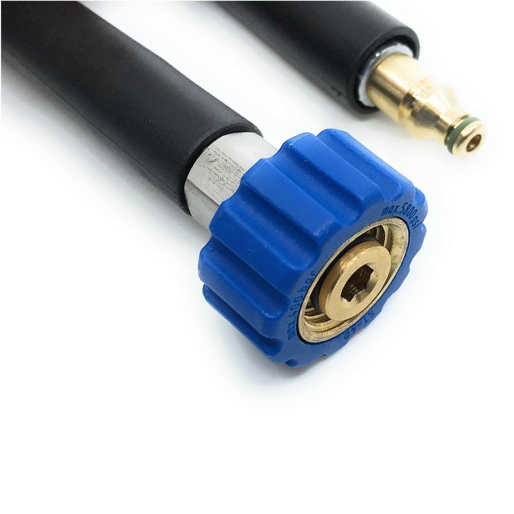 15m HD-Schlauch Polya, DN6, schwarz, 1/2 Zoll Überwurf auf Stecknippel 8mm, max. 60°C, max. 160bar – Bild 3