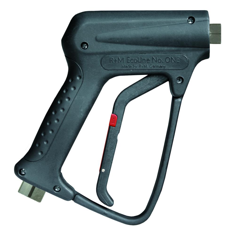 """HD-Pistole R+M Ecoline, E=3/8"""" AG, A=1/4"""" IG, max. 250 bar, max. 150°C, max. 45 L/min"""