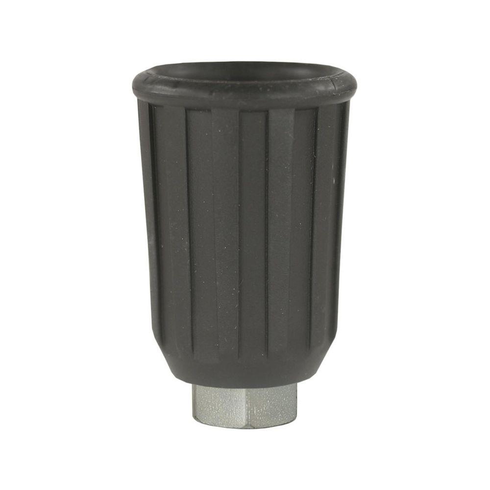 Düsenmuffe Gummi schwarz, für Düsen 1/4 Zoll AG NPT, Stahl verzinkt