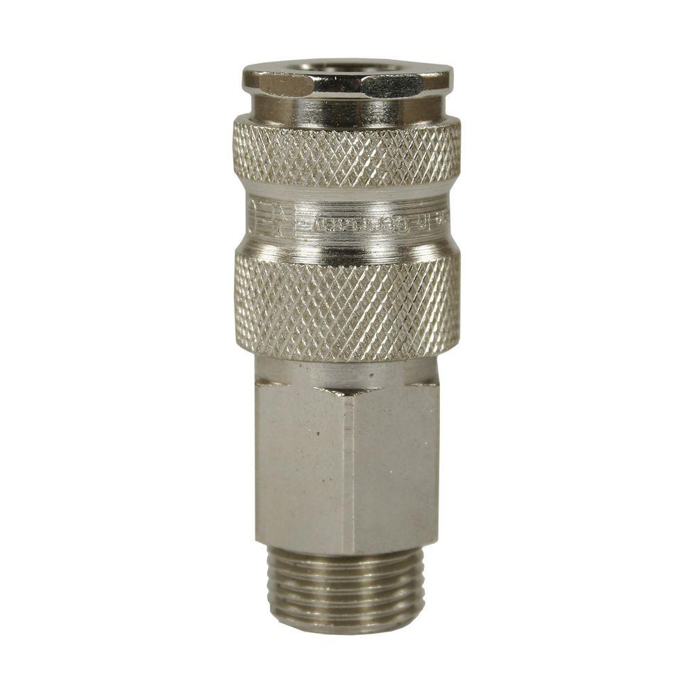 "Schnellkupplung CR, DN=7,4mm, E=1/4"" AG, max. 250bar, max. 100°C, Messing vern."