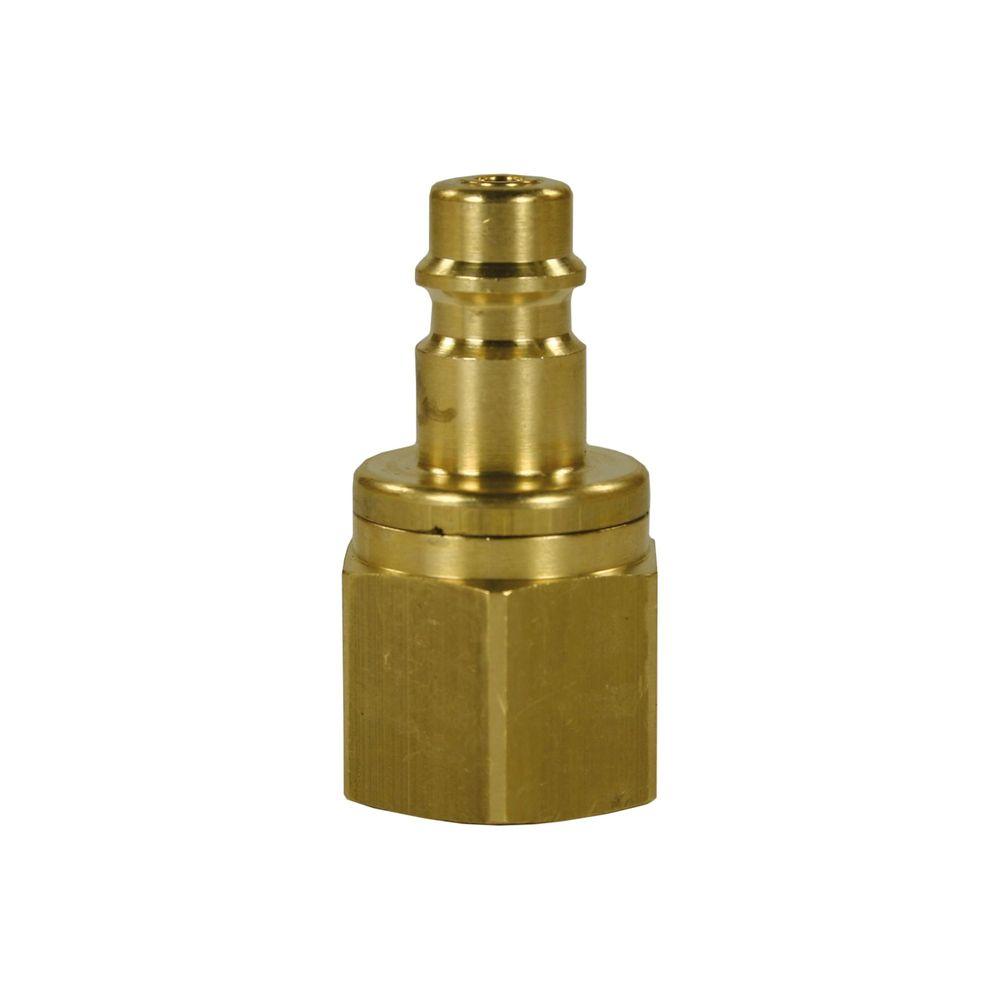 "Schnellkupplungsnippel CR, DN=7,4mm, E=1/4"" IG, max. 35bar, max. 100°C, Messing vern."