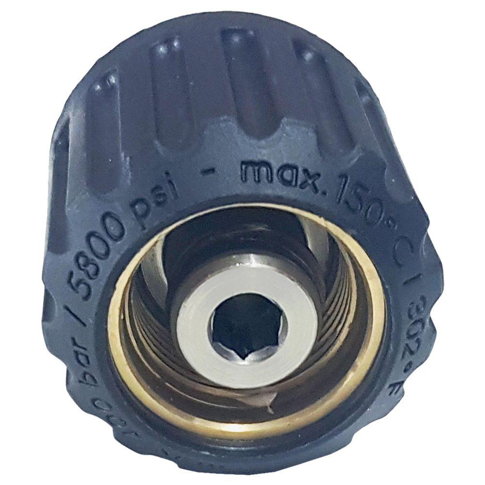 Drehverschraubung ST-44, M22 Überwurf auf M22 AG, max. 400bar, max. 150°C, Edelstahl – Bild 2