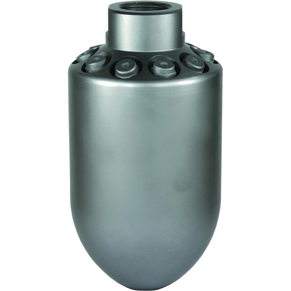 Bombendüse BA, Typ 608, 1 Zoll Innengewinde, 6 x Rückstrahl, max. 300 bar, Edelstahl