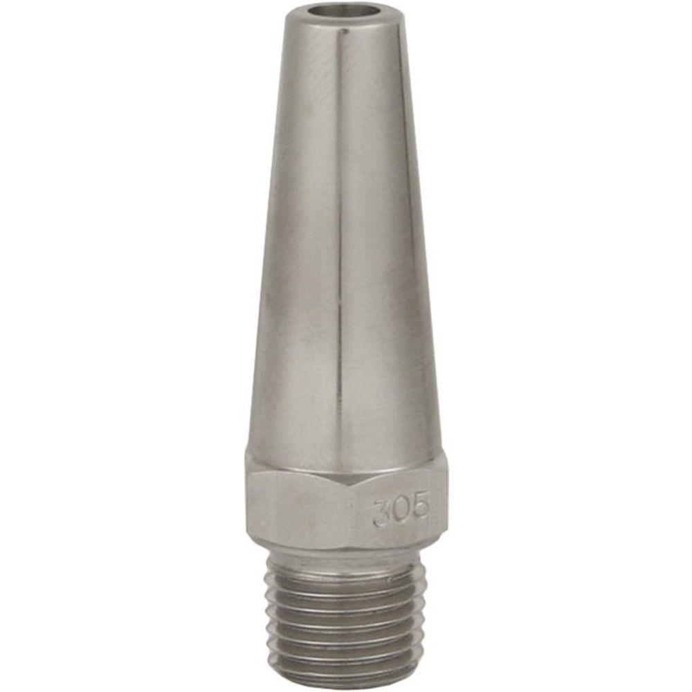 Langkegeldüse LK, Typ 500, 3/4 Zoll Aussengewinde, Bohrungsdurchmesser 3-7mm, max. 500 bar, Edelstahl