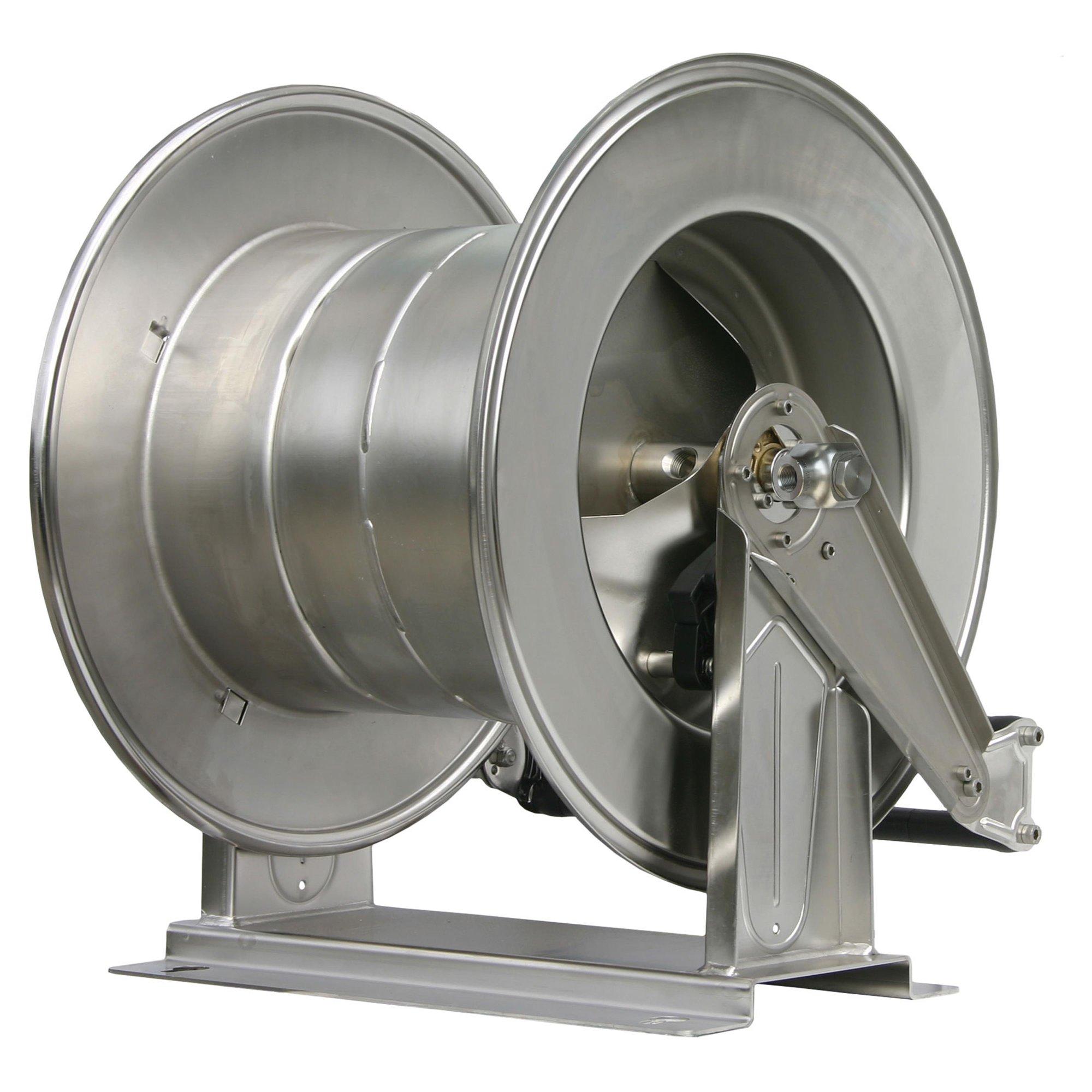 R+M de Wit Schlauchaufroller R+M, max. 300 bar, max. 90°C, Edelstahl Schlauchaufr. 60 M. 1/2-1/2IG VA 300 bar |