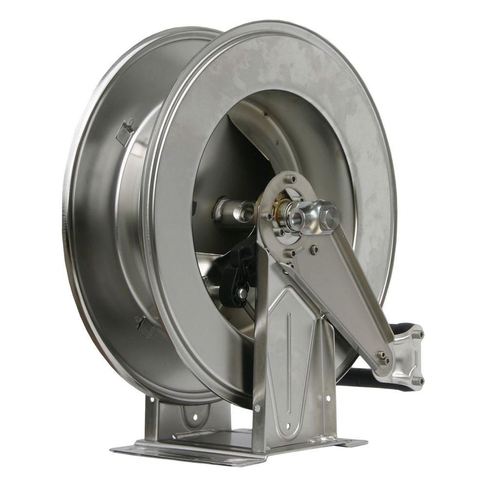Schlauchaufroller R+M, max. 300 bar, max. 90°C, Edelstahl