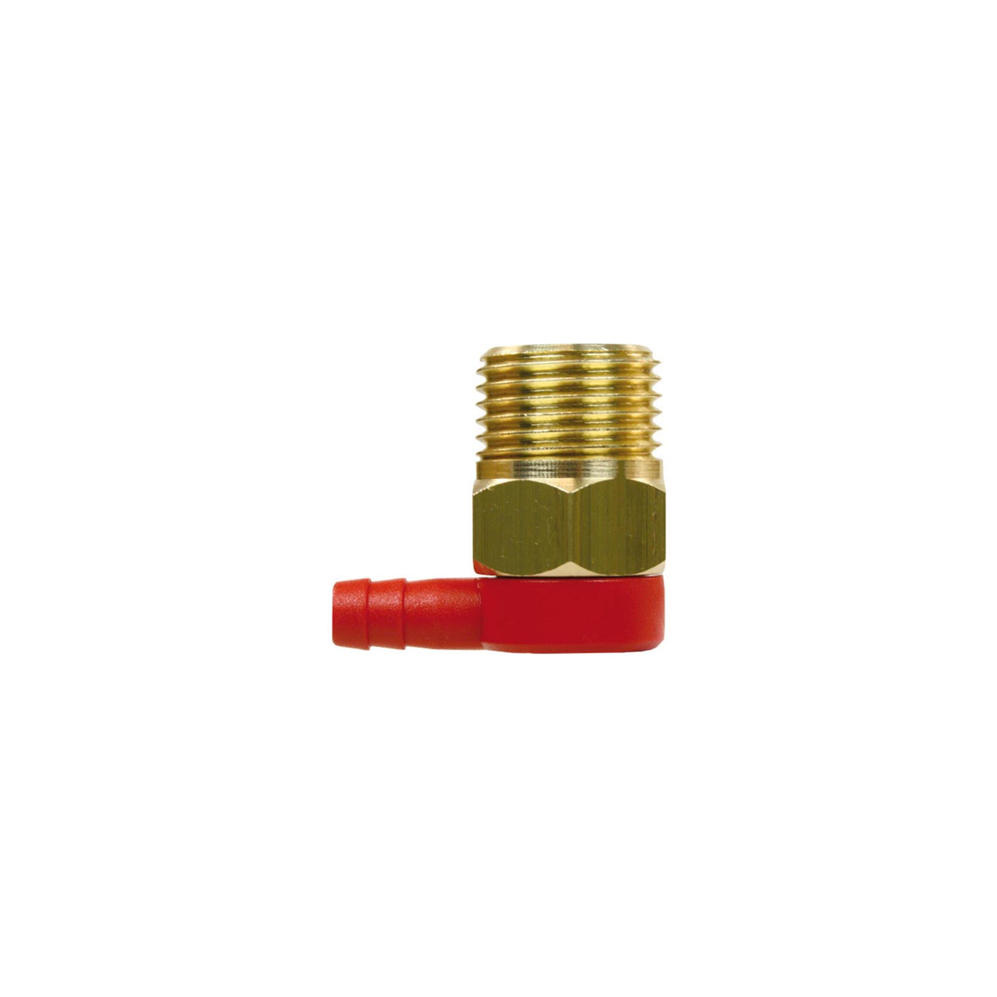 "R+M de Wit Thermoventil mit Fühler aus Kupfer, 3/8"" AG - Tülle 6mm, Betriebstemperatur 63°C, max. 10 bar, Thermoventil VT6 1/2"