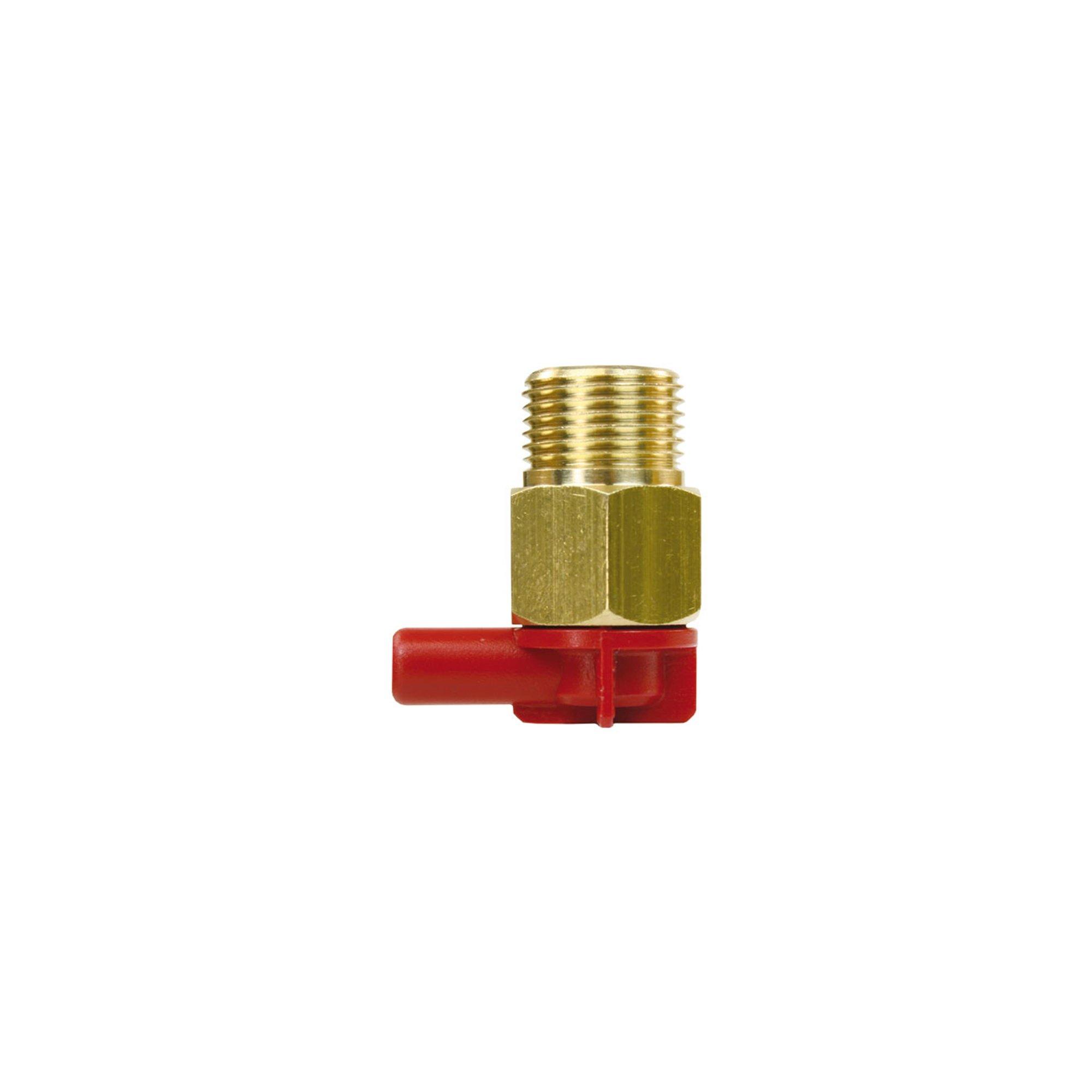 "R+M de Wit Thermoventil mit Fühler aus Kupfer, 3/8"" AG - Tülle 6mm, Betriebstemperatur 63°C, max. 10 bar, Thermoventil 3/8 63 C°"