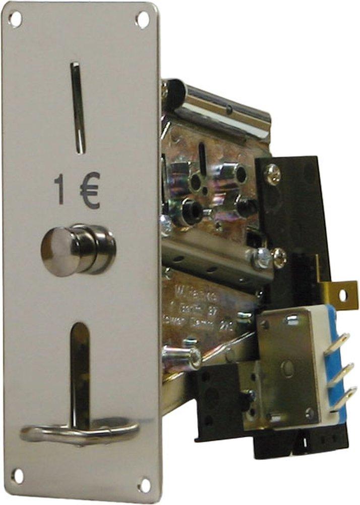 Münzprüfer MPR 310-F1 für 50 Cent, Frontplatte 129x52mm