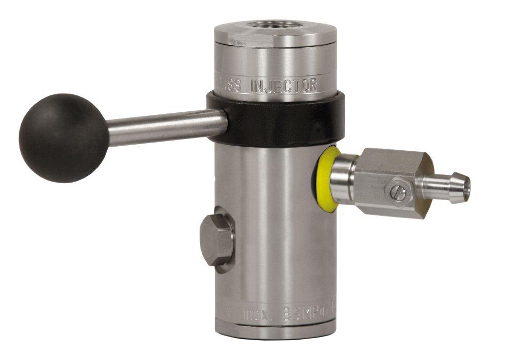 "easyfoam365+ Bypass Injektor ST-167 mit Dosierventil ""extreme"", ohne Druckluftmodul, E/A= 1/2"" IG, D=2.1 mm, max. 350 bar, max. 100°C, Edelstahl"