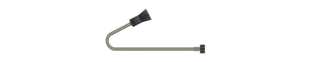 Set: WC Lanze, Dachrinnenlanze Profi Winkelstrahlrohr für Kärcher