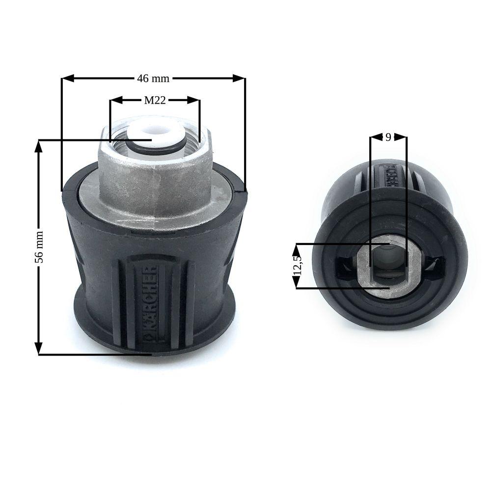 Schnellkupplung Kärcher QuickConnect auf M22 x 1.5mm – Bild 3